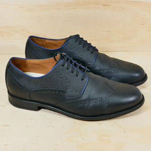 Cole Haan Grand OS Black Leather Wingtip Oxfords